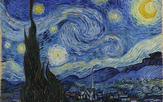 ליל כוכבים, ציור: וינסנט ואן גוך