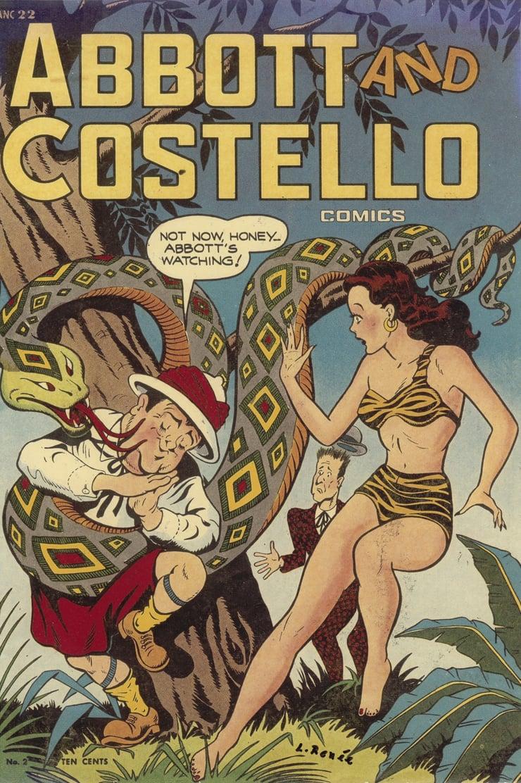 כריכה שלילי רנה איירה לספר קומיקס של אבוט וקוסטלו משנת 1948 (צילום: אוסף לילי רנה)
