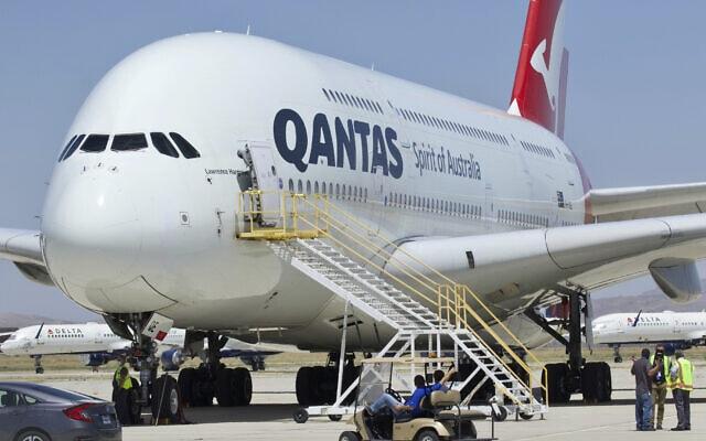 מטוס של חברת התעופה האוסטרלית קוונטאס (צילום: AP Photo/Matt Hartman)