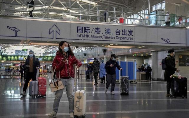 שדה התעופה הבינלאומי בבייג'ין, סין, ב-3 בפברואר 2021 (צילום: AP Photo/Andy Wong)