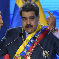 נשיא ונצואלה ניקולס מדורו (צילום: AP Photo/Matias Delacroix)