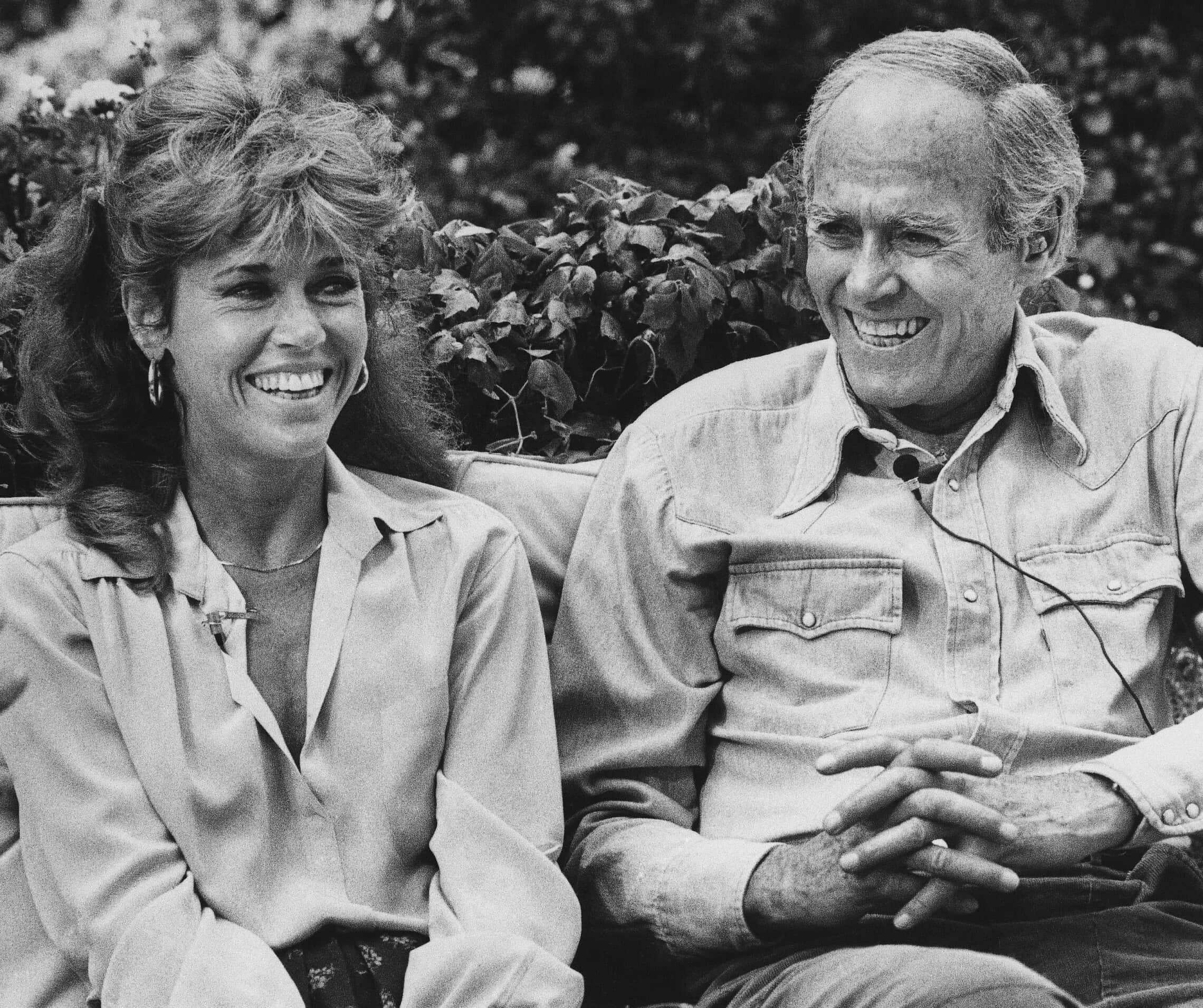 הנרי פונדה וג'יין פונדה ב-1979 (צילום: AP Photo/ Reed Saxon)