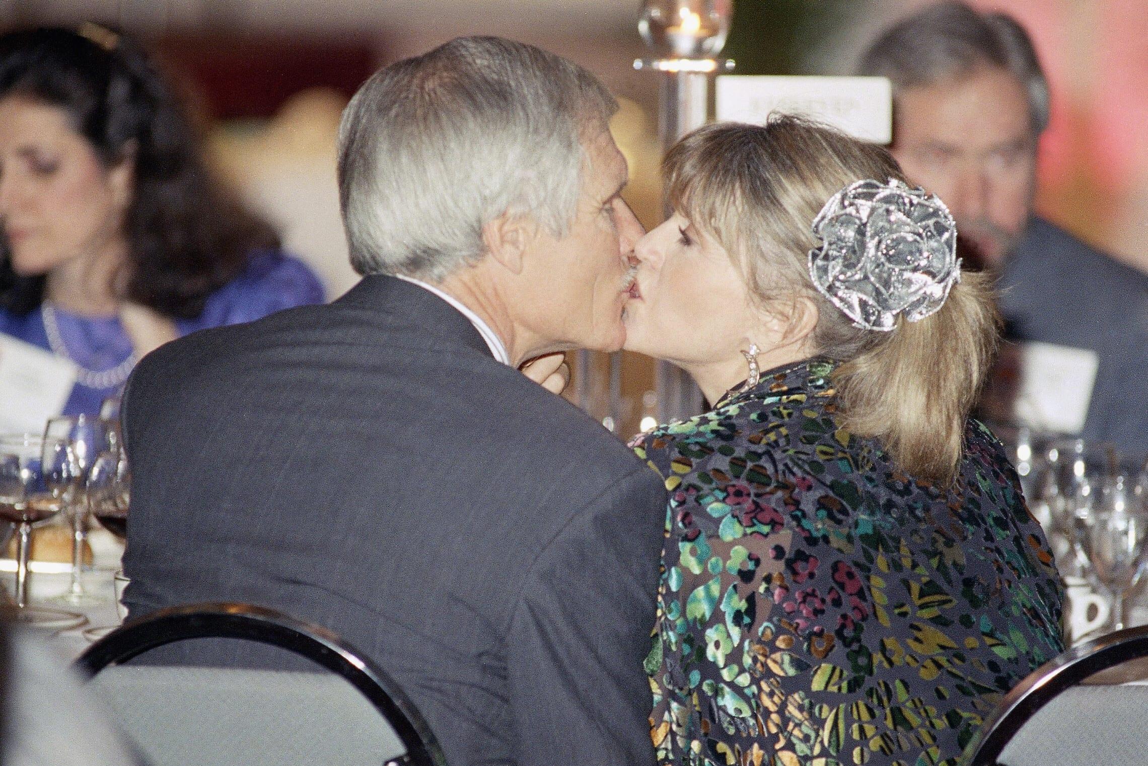 ג'יין פונדה ובעלה אז טד טרנר, שהקים את סי-אן-אן, ב-1992 (צילום: AP Photo/Charles Kelly)