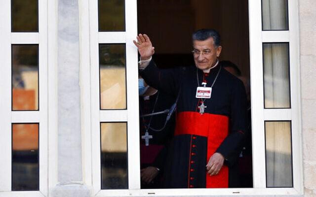 הפטריארך בוטרוס א-ראעי בצפון ביירות, 27 בפברואר 2021 (צילום: Bilal Hussein, AP)