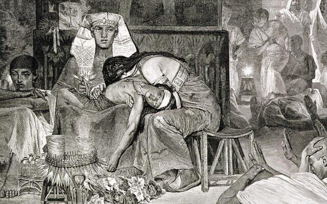 מכת בכורות. איור: לורנס אלמה תדמה, 1878, ויקימדיה קומון.