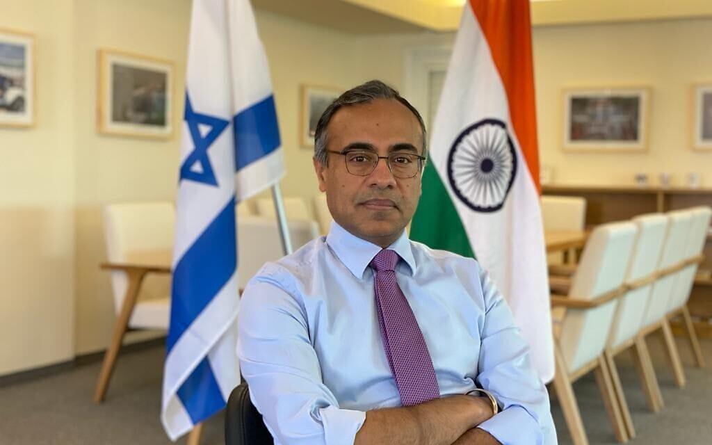 שגריר הודו בישראל סנג'יב סינגלה, פברואר 2021 (צילום: שגרירות הודו)