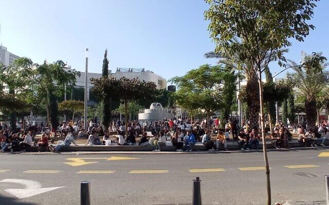 כיכר דיזינגוף, דצמבר 2020 (צילום: אמיר רותם)
