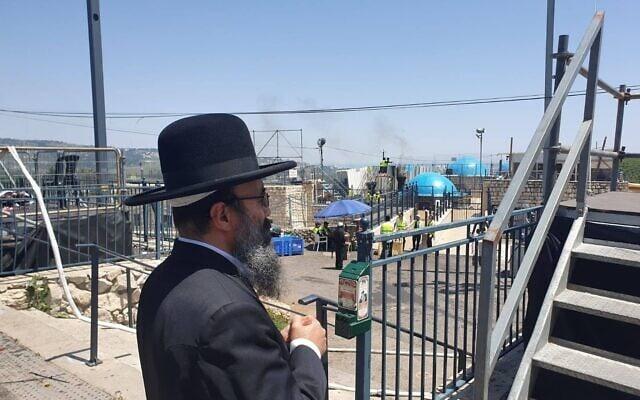 הרב הרנטגן יעקב ישראל איפרגן בנתיבות (צילום: עמוד הפייסבוק של הרב הרנטגן)