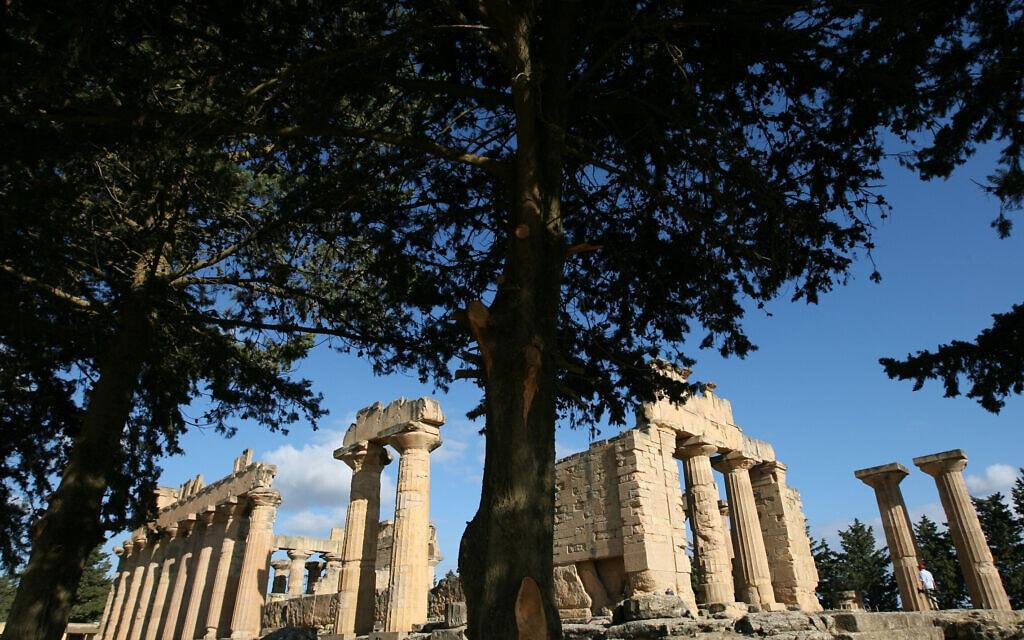 המקדש של זאוס בקירנה, לוב, נכון ל-2007 (צילום: AP Photo/Nasser Nasser)