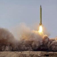 שיגור טיל במהלך תרגיל באיראן, ינואר 2021 (צילום: Iranian Revolutionary Guard/Sepahnews via AP)
