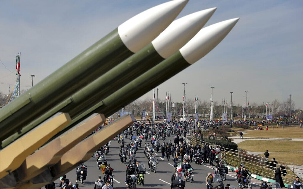 תהלוכה לכבוד יום השנה ה-42 למהפכה האיראנית בטהרן, 10 בפברואר 2021 (צילום: AP Photo/Ebrahim Noroozi)