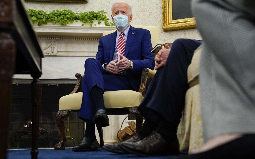 ג'ו ביידן בבית הלבן (צילום: AP Photo/Evan Vucci)