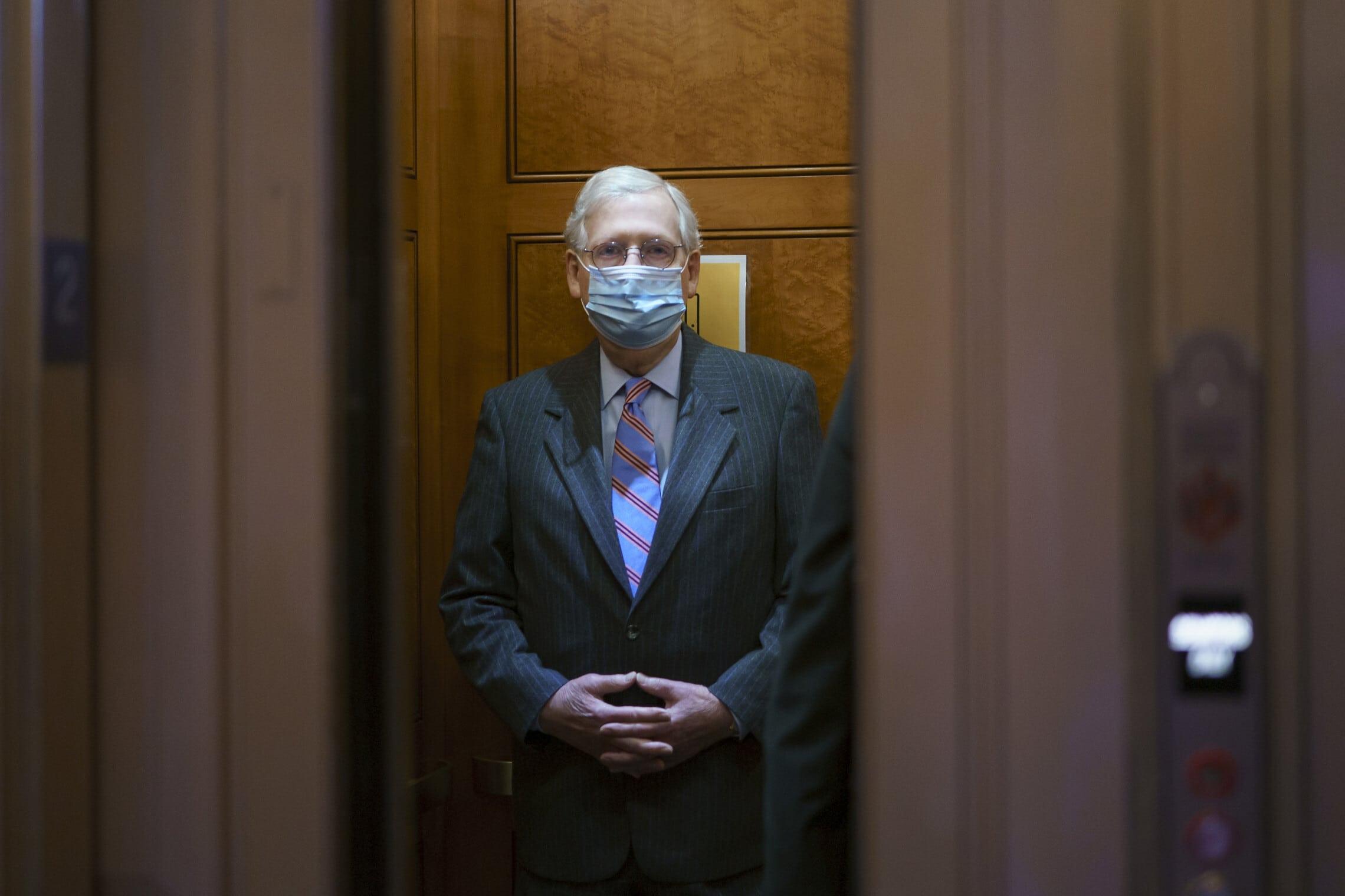 מיטש מקונל (צילום: AP Photo/J. Scott Applewhite)