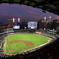 מגרש הבייסבול סאן טראסט פארק באטלנטה (צילום: AP Photo/John Amis)
