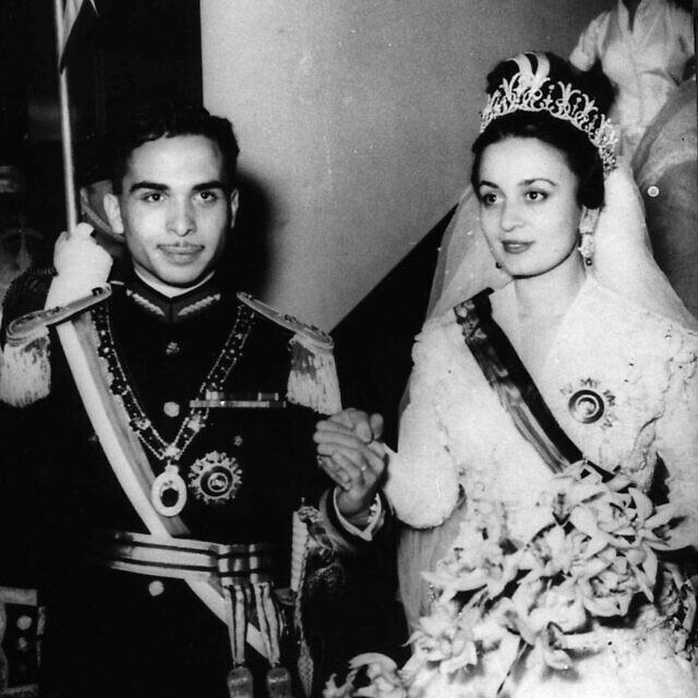 יום הנישואים של המלך חוסיין והנסיכה דינא, 19 באפריל 1955 (צילום: AP Photo)