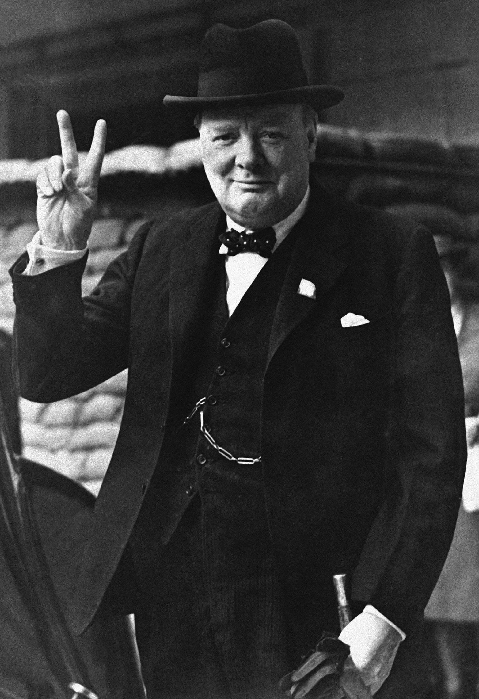 וינסטון צ'רצ'יל, אוגוסט 1941 (צילום: AP Photo)