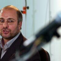 מוחמד באקר קאליבאף בטהראן, 10 במאי 2005 (צילום: Hasan Sarbakhshian, AP)