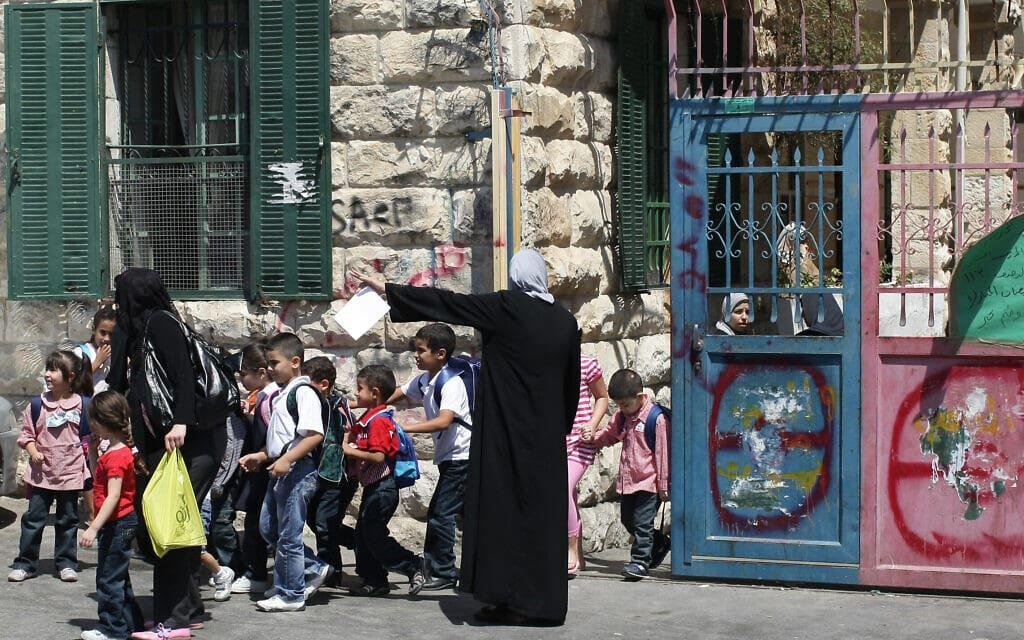 תלמידים בבית ספר בשכונת א-טור במזרח ירושלים (צילום: קובי גדעון/פלאש90)