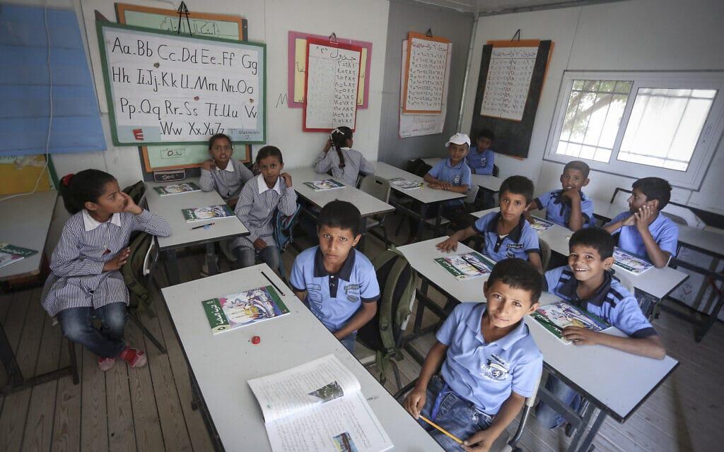 כיתת בית ספר במזרח ירושלים ב-2016, אילוסטרציה (צילום: פלאש90)