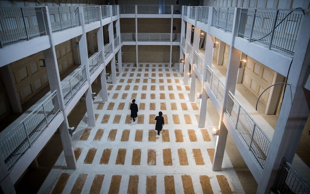 בית הקברות החדש שנבנה עם קומות בהר המנוחות בירושלים (צילום: יונתן זינדל/פלאש90)
