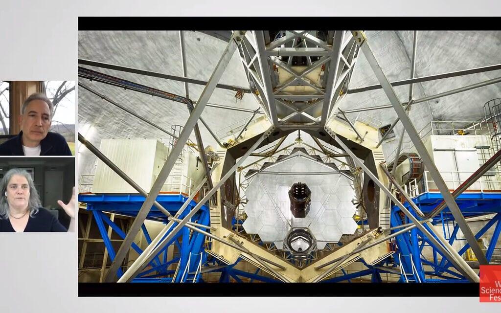 ברייאן גרין ואנדריאה גז עם אחד מצמד טלסקופי החלל UCLA, צילום מסך מיוטיוב