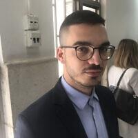 ליית אבו זיאד בבית המשפט המחוזי בירושלים, 6 באפריל 2021 (צילום: אמיר בן-דוד)