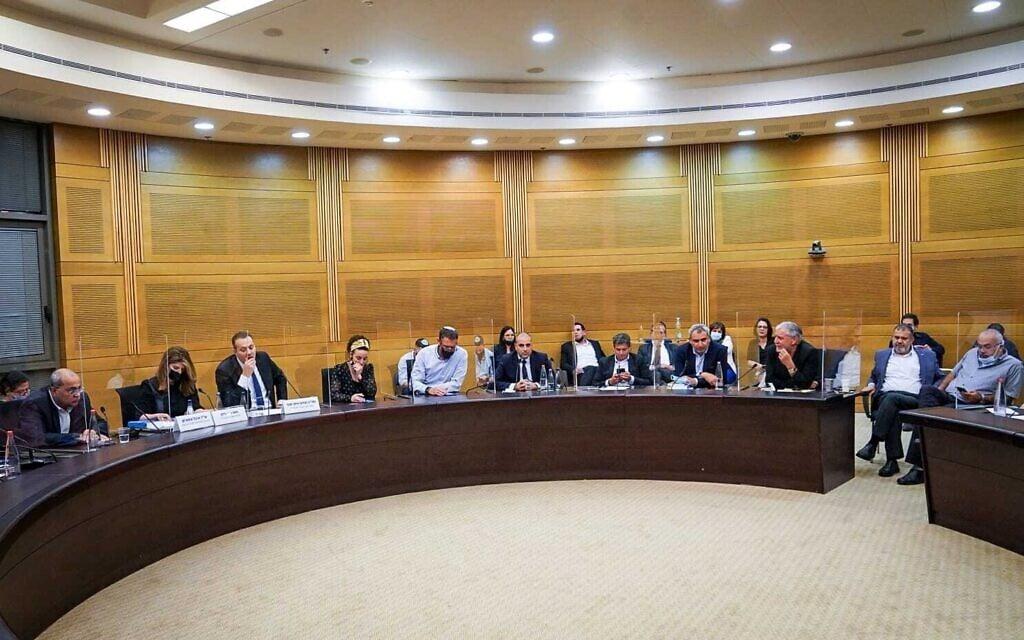 ישיבת הוועדה המסדרת, 19 באפריל 2021 (צילום: נועם מושקוביץ, דוברות הכנסת)