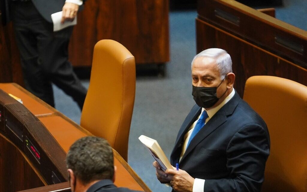 ראש הממשלה בנימין נתניהו במליאת הכנסת, 26 באפריל 2021 (צילום: נועם מושקוביץ, דוברות הכנסת)