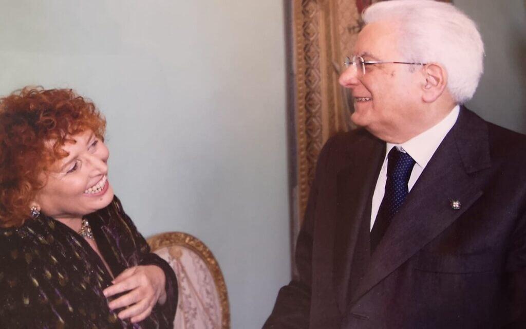 לינדה לאורה סבדיני עם נשיא איטליה סרג'יו מטרלה (צילום: Italian President's Office)