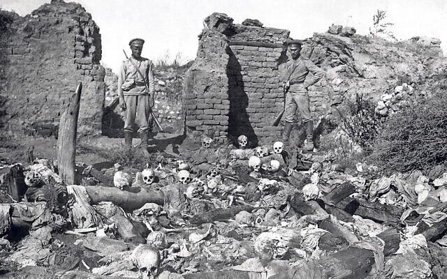 עדויות לטבח במהלך רצח העם הארמני (צילום: רשות הציבור)