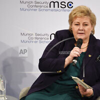 Erna Solberg, Prime minister of Norway (צילום: AP Photo/Jens Meyer)