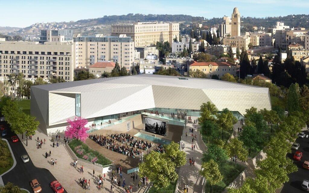 הדמייה של המוזאון לסובלנות בירושלים (צילום: מרכז שמעון ויזנטל)