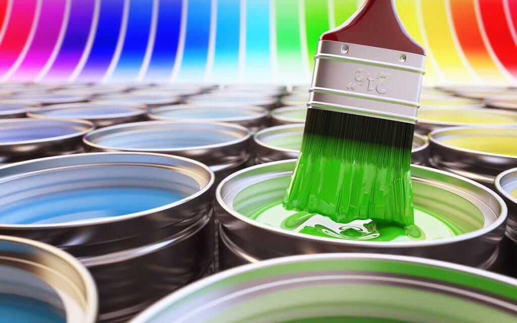 צבעים מבוססי מים. אילוססטרציה (צילום: iStock)