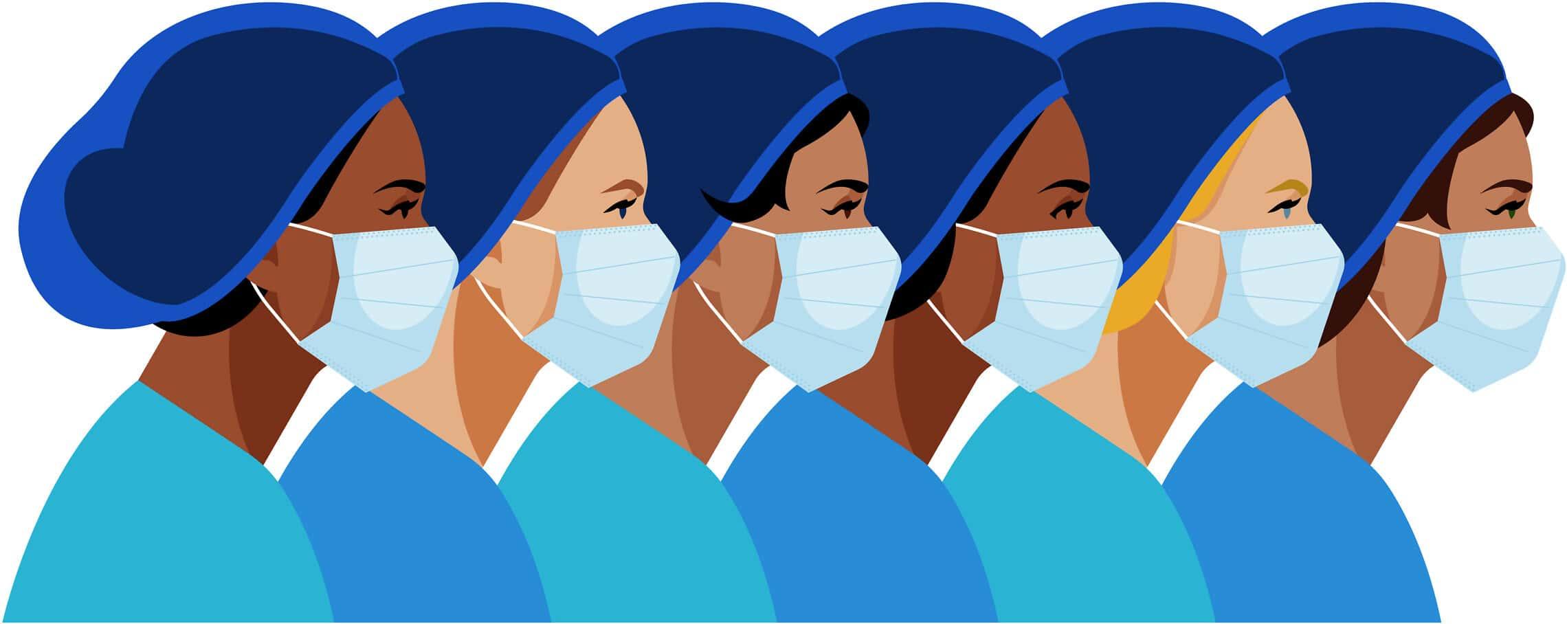 נשים בצוות רפואי. אילוסטרציה (צילום: iStock)