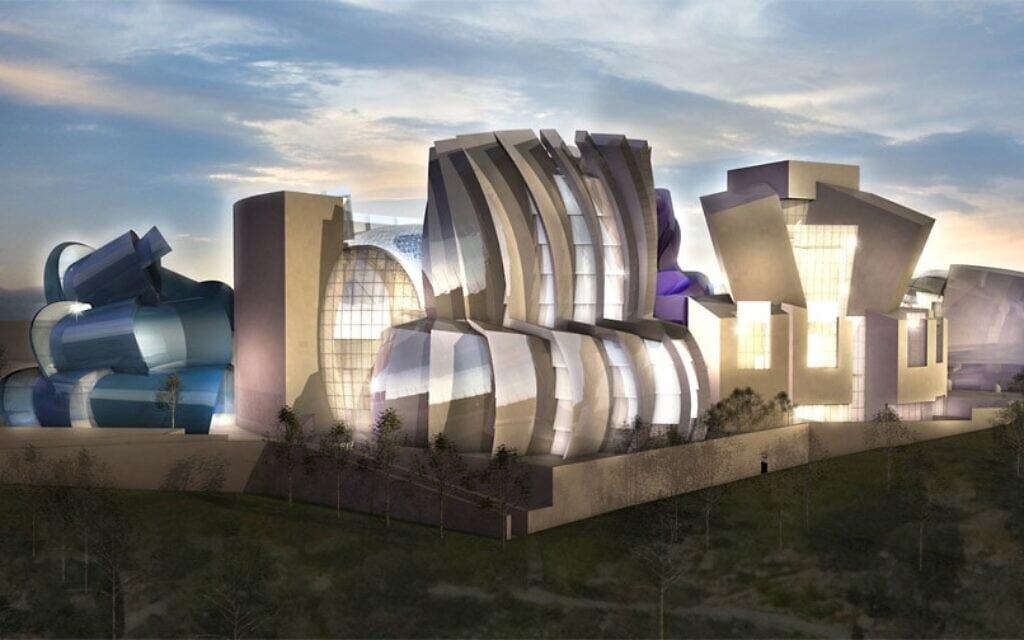 התוכנית המוצעת של האדריכל פרנק גרי למוזאון לסובלנות בירושלים (צילום: מכון שמעון ויזנטל)