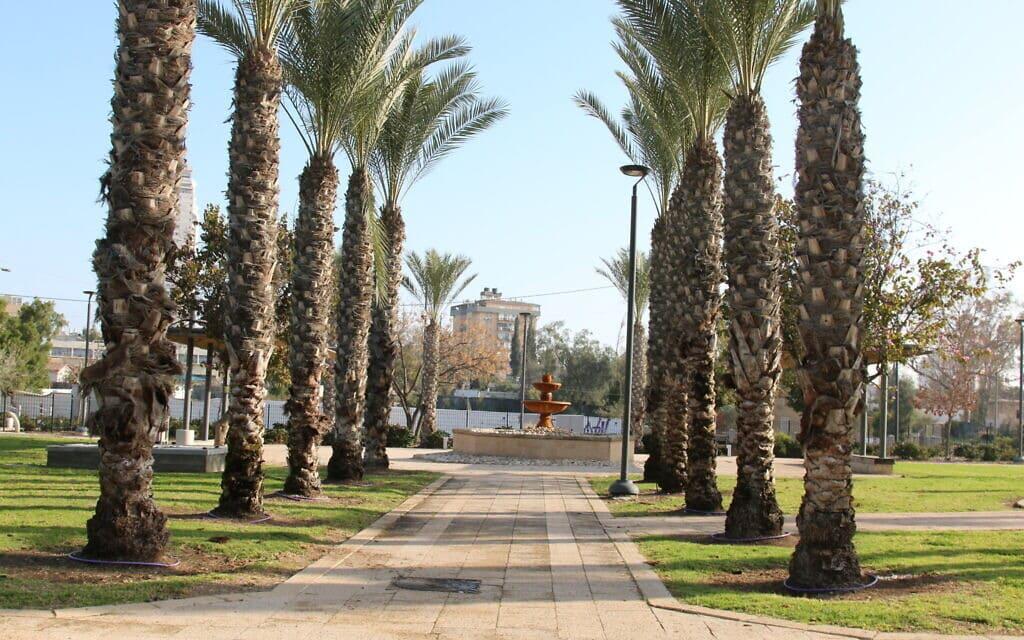 פארק רמז בעיר העתיקה באר שבע (צילום: שמואל בר-עם)
