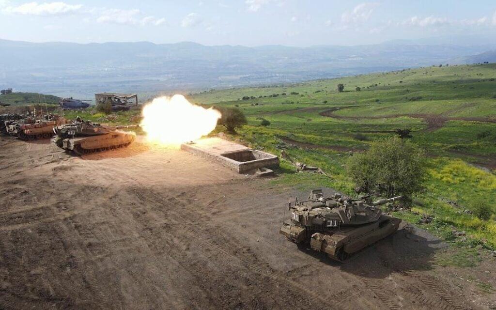 """חטיבת השריון 188 באימון. (צילום: צילום: דובר צה""""ל.)"""