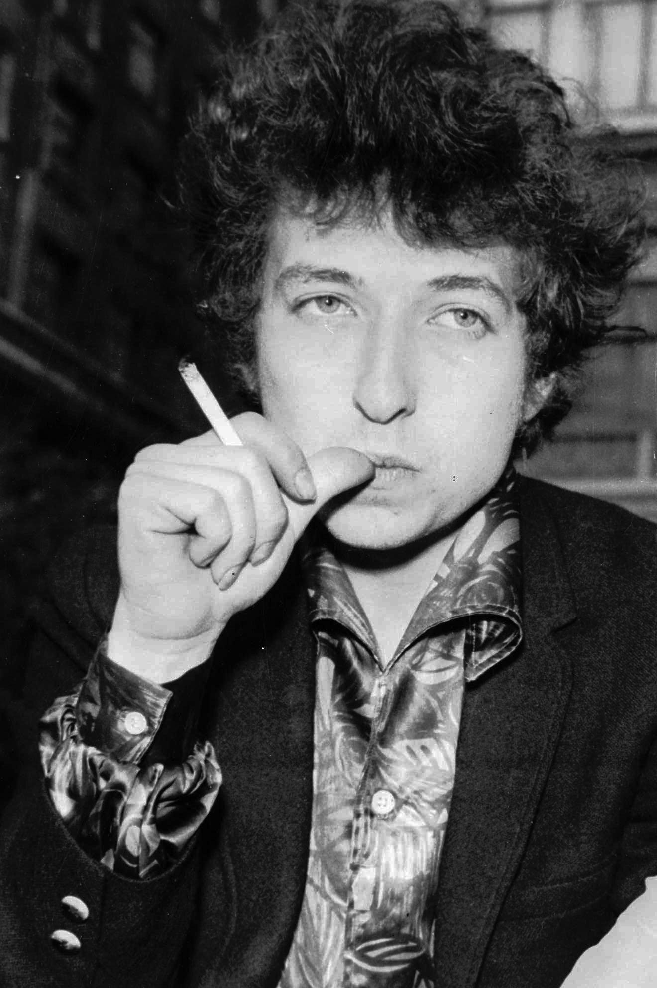 בוב דילן בלונדון, אפריל 1965 (צילום: AP Photo)