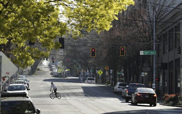 שכונת קפיטול היל בסיאטל, 14 באפריל 2020 (צילום: Ted S. Warren, AP)