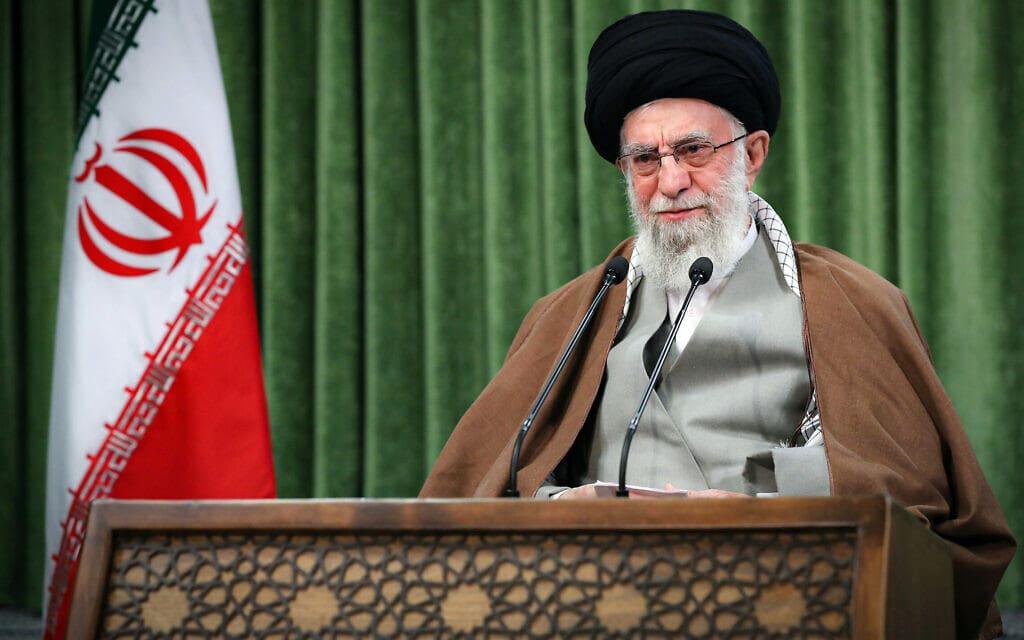 המנהיג העליון של איראן, עלי ח'אמינאי (צילום: Office of the Iranian Supreme Leader via AP)