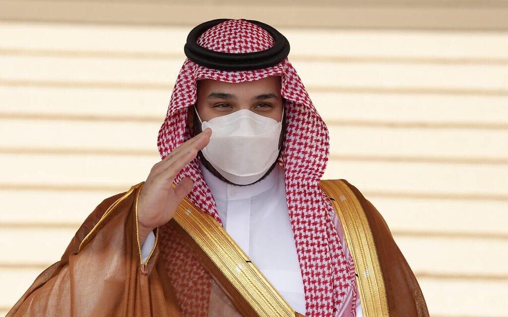 יורש העצר הסעודי מוחמד בן סלמאן (צילום: Bandar Aljaloud/Saudi Royal Palace via AP)