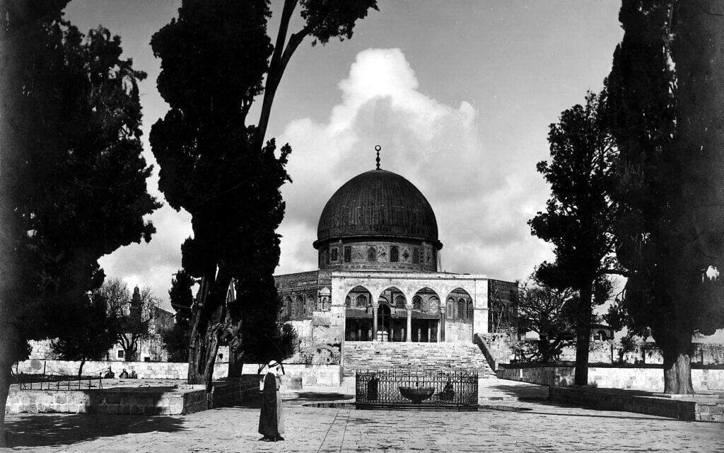 מסגד אל אקצא ב-1920 (צילום: אריק מטסון)