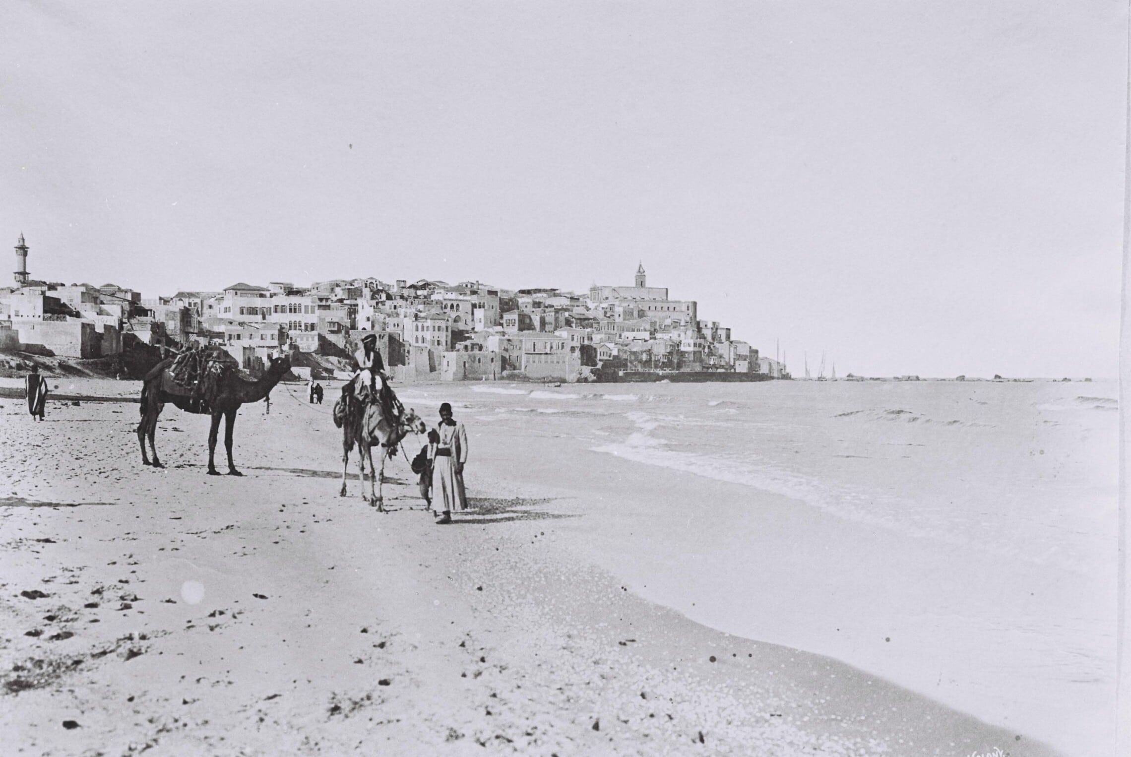 ערבים ביפו, 1920 (צילום: אמריקן קולוני)