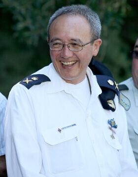 מפקד חיל הים אז, האלוף אליעזר צ'ייני מרום ב-2010 (צילום: משה שי/פלאש90)