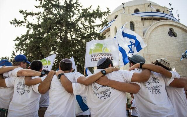 .מצעד הדגלים במזרח ירושלים, 2016 (צילום: Zack Wajsgras/Flash90)