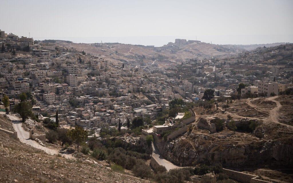 מבט על שכונת אבו תור בירושלים (צילום: הדס פרוש/פלאש90)