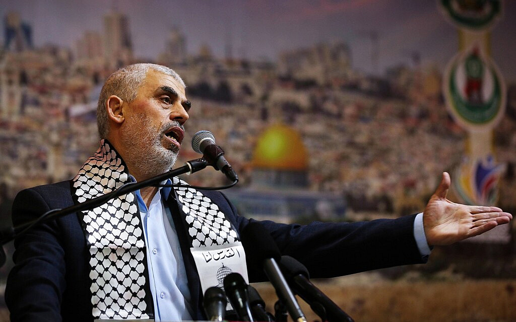 מנהיג חמאס יחיא סנוואר (צילום: Abed Rahim Khatib/Flash90)