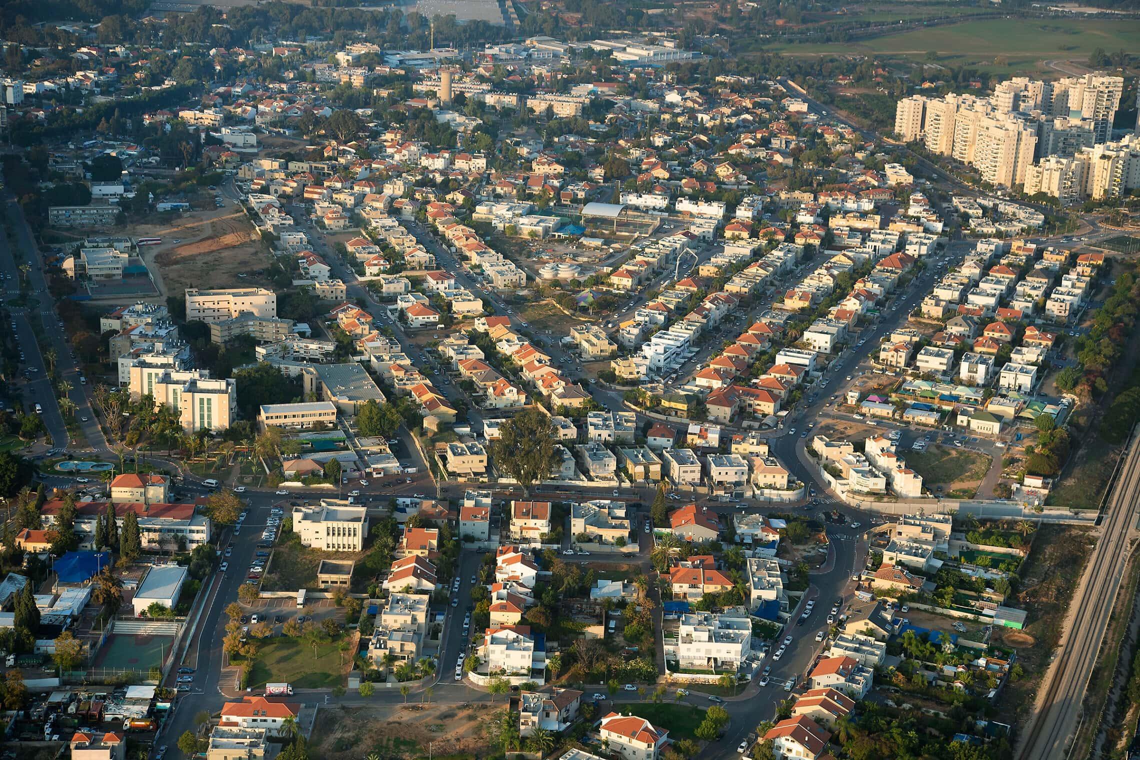 מבט-על על העיר לוד, דצמבר 2019 (צילום: משה שי/פלאש90)