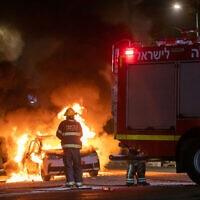 מהומות בין יהודים וערבים בלוד, מאי 2021 (צילום: Yossi Aloni/Flash90)