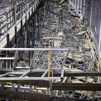 התרסקות הטריבונה בגבעת זאב בשבועות, 16.5.2021 (צילום: Noam Revkin Fenton/FLASH90)